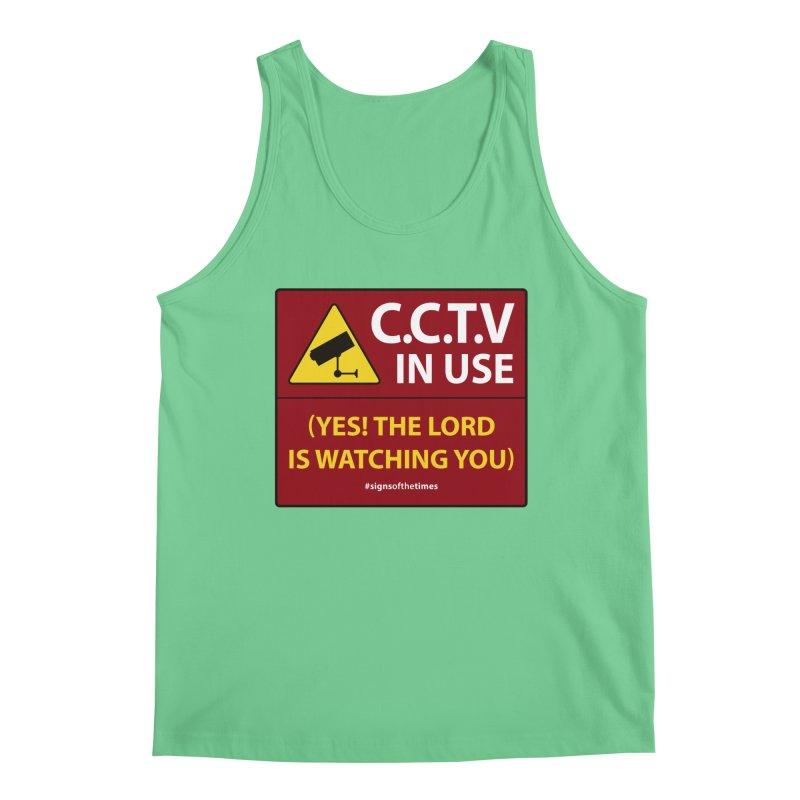CCTV: The LORD is Watching You! - Christian Design Men's Regular Tank by Kelsorian T-shirt Shop
