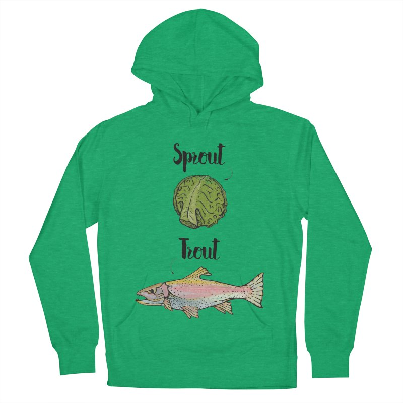 Sprout / Trout - Wordplay Illustration Women's French Terry Pullover Hoody by Kelsorian T-shirt Shop