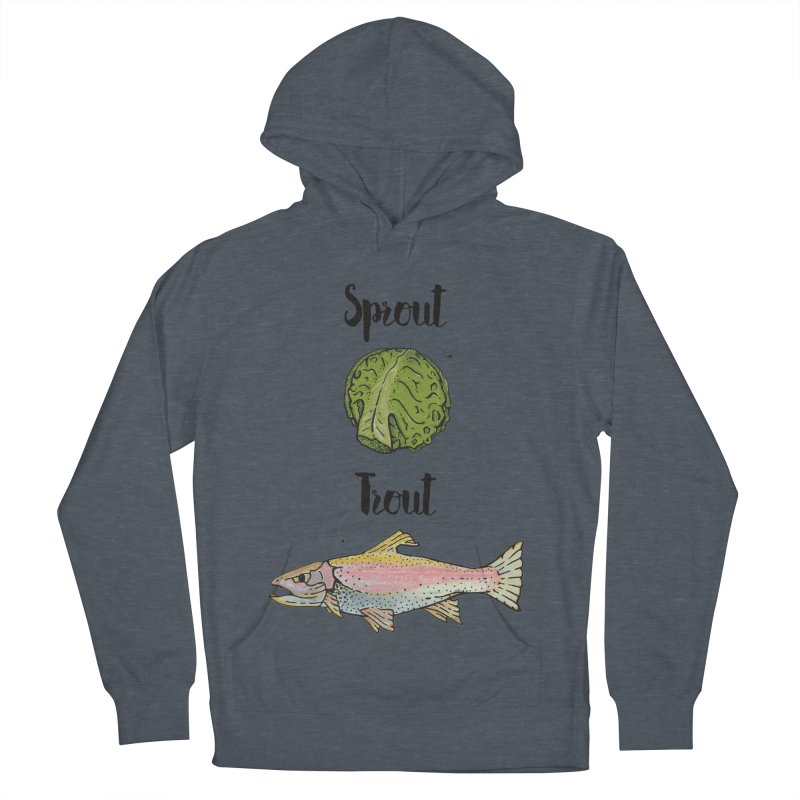 Sprout / Trout - Wordplay Illustration Men's Pullover Hoody by Kelsorian T-shirt Shop
