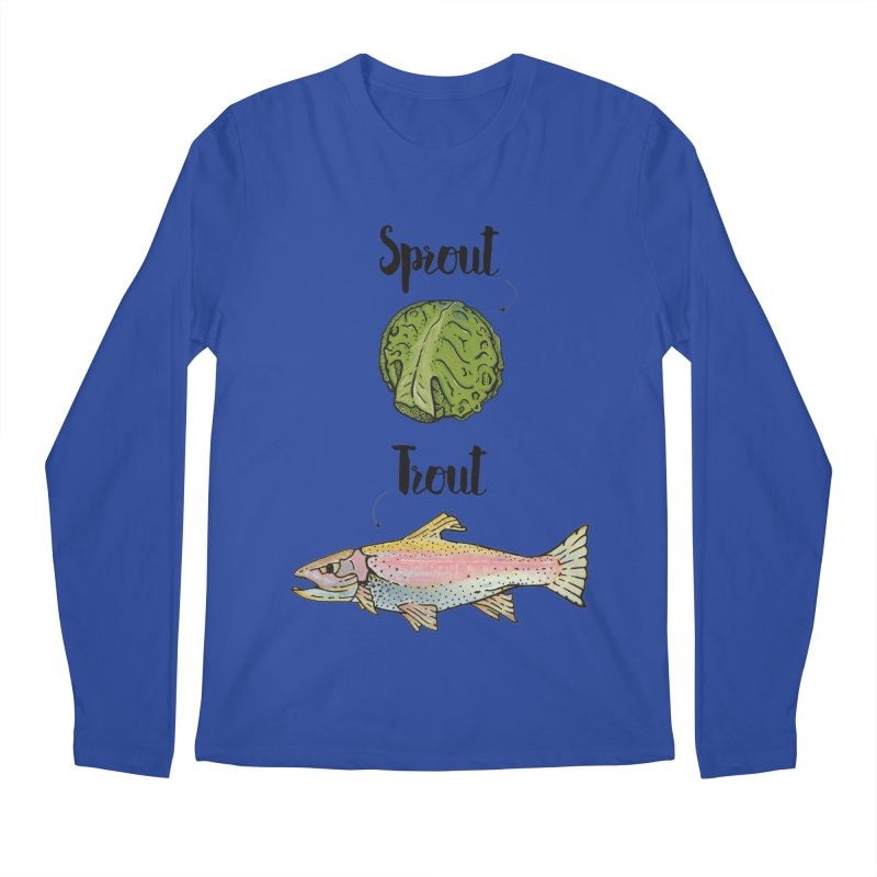Sprout / Trout - Wordplay Illustration Men's Regular Longsleeve T-Shirt by Kelsorian T-shirt Shop