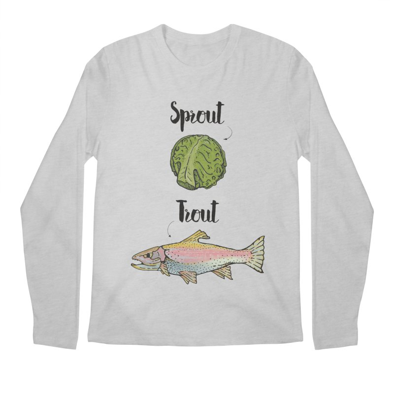 Sprout / Trout - Wordplay Illustration Men's Regular Longsleeve T-Shirt by Kelsorian T-shirt Shop