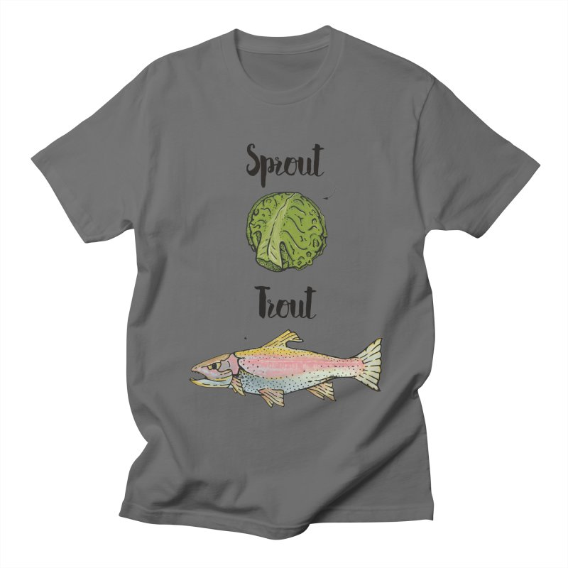 Sprout / Trout - Wordplay Illustration Men's T-Shirt by Kelsorian T-shirt Shop