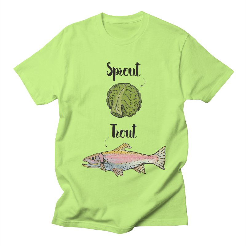 Sprout / Trout - Wordplay Illustration Men's Regular T-Shirt by Kelsorian T-shirt Shop