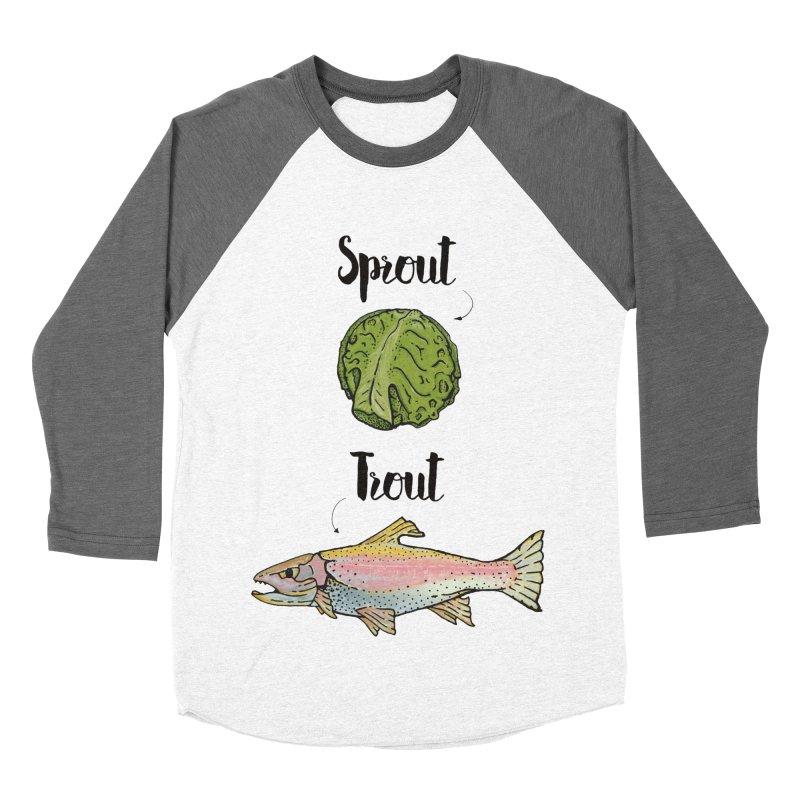 Sprout / Trout - Wordplay Illustration Women's Longsleeve T-Shirt by Kelsorian T-shirt Shop