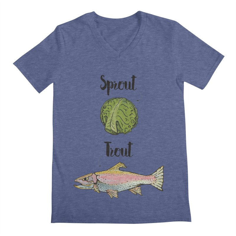 Sprout / Trout - Wordplay Illustration Men's  by Kelsorian T-shirt Shop