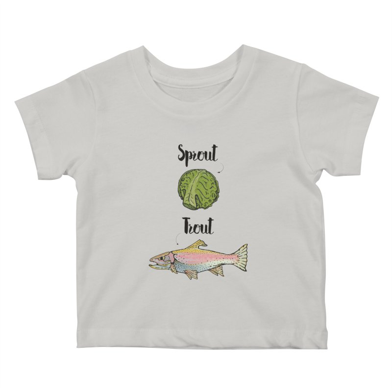 Sprout / Trout - Wordplay Illustration Kids Baby T-Shirt by Kelsorian T-shirt Shop