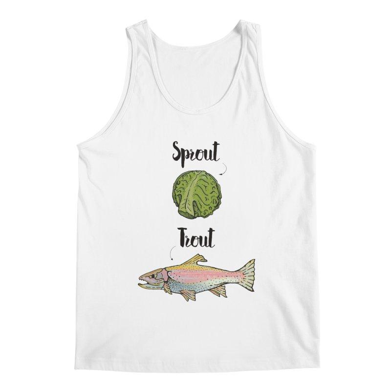 Sprout / Trout - Wordplay Illustration Men's Regular Tank by Kelsorian T-shirt Shop