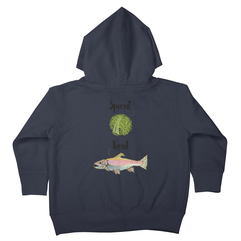 Sprout / Trout - Wordplay Illustration Kids Toddler Zip-Up Hoody by Kelsorian T-shirt Shop