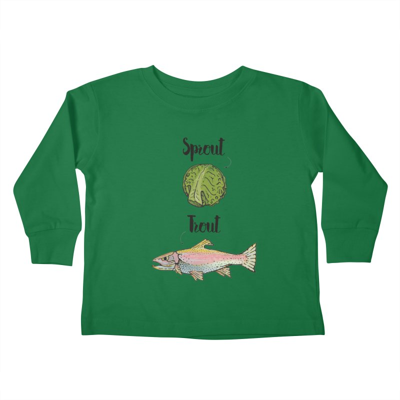Sprout / Trout - Wordplay Illustration Kids Toddler Longsleeve T-Shirt by Kelsorian T-shirt Shop