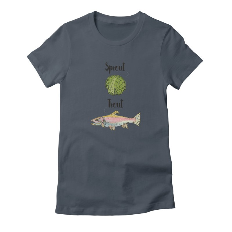 Sprout / Trout - Wordplay Illustration Women's T-Shirt by Kelsorian T-shirt Shop