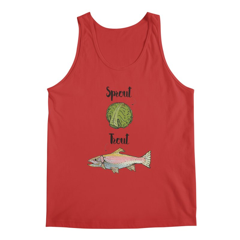 Sprout / Trout - Wordplay Illustration Men's Regular Tank by Kelsorian T-shirt Shop