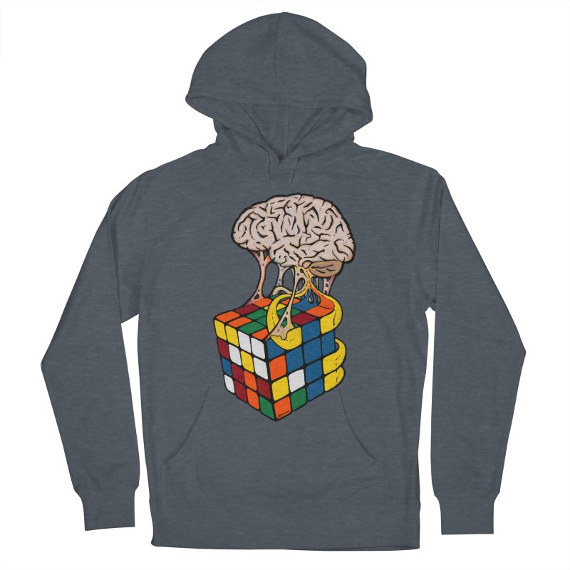 Cube Brain Women's French Terry Pullover Hoody by Kelsorian T-shirt Shop