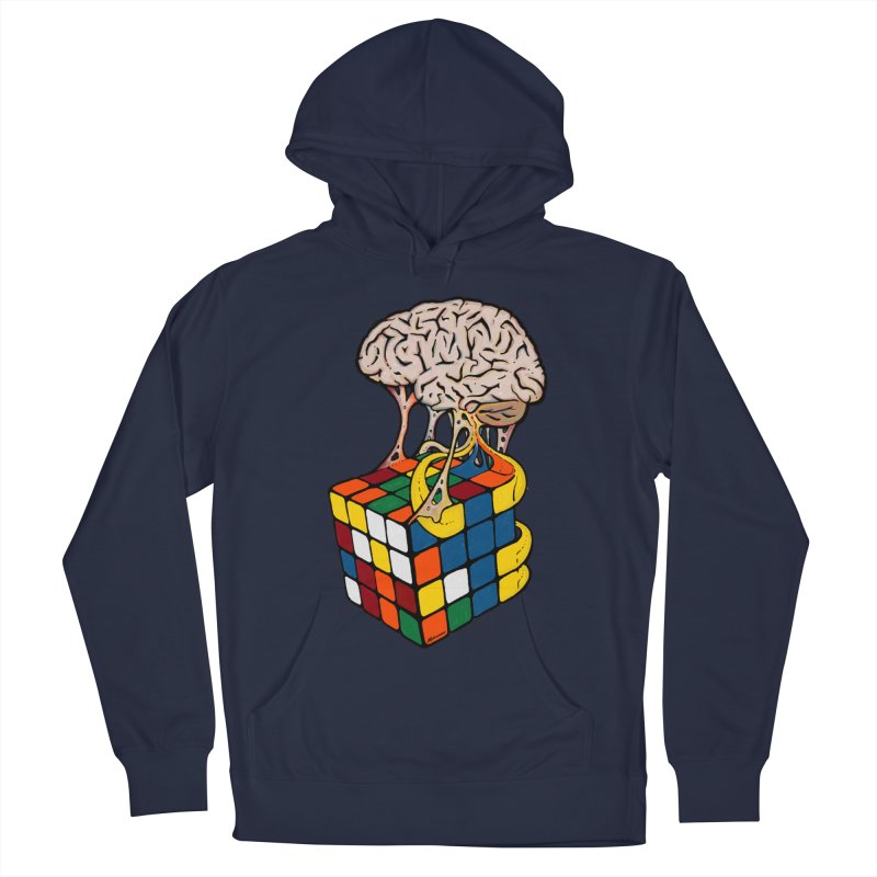 Cube Brain Men's French Terry Pullover Hoody by Kelsorian T-shirt Shop