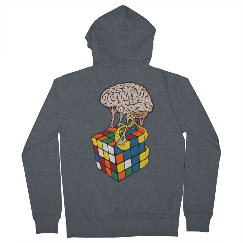 Cube Brain Women's Zip-Up Hoody by Kelsorian T-shirt Shop