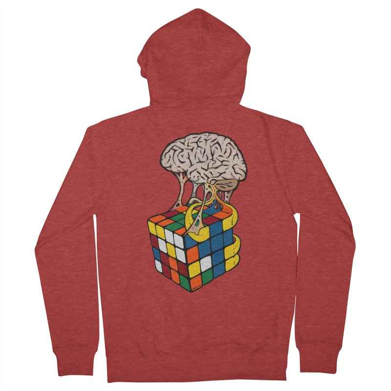 Cube Brain Women's French Terry Zip-Up Hoody by Kelsorian T-shirt Shop