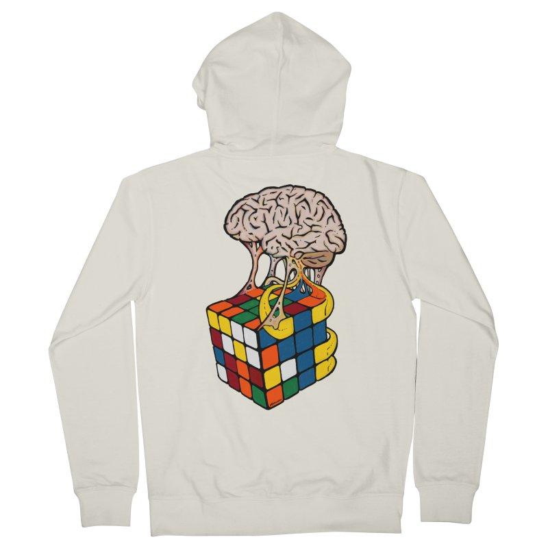 Cube Brain Women's French Terry Zip-Up Hoody by Kelsorian T-shirt Shop