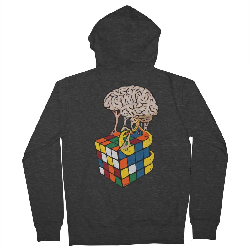 Cube Brain Men's French Terry Zip-Up Hoody by Kelsorian T-shirt Shop