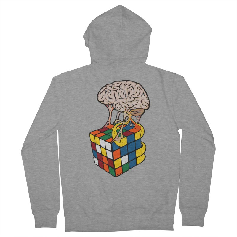 Cube Brain Men's Zip-Up Hoody by Kelsorian T-shirt Shop