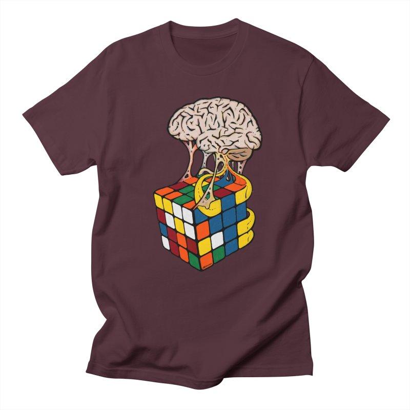 Cube Brain Men's Regular T-Shirt by Kelsorian T-shirt Shop