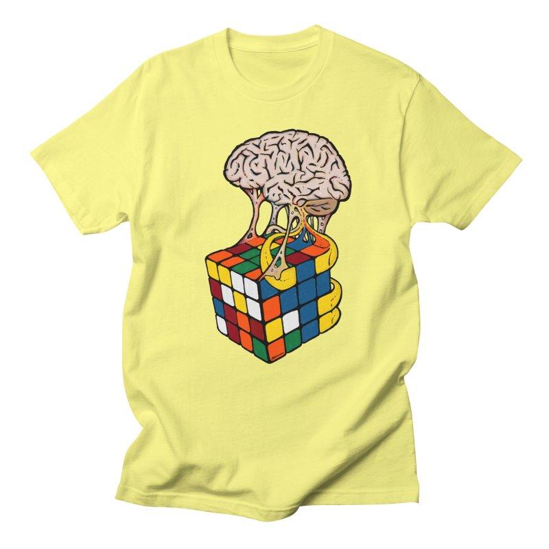 Cube Brain Men's T-Shirt by Kelsorian T-shirt Shop