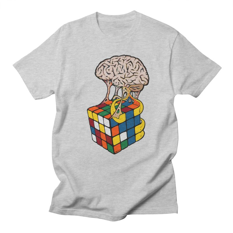 Cube Brain Men's Regular T-Shirt by Kelsorian T-shirt Shop