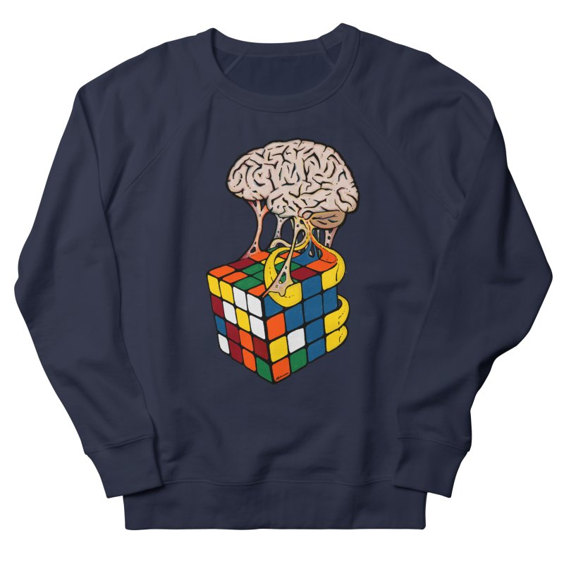 Cube Brain Women's French Terry Sweatshirt by Kelsorian T-shirt Shop