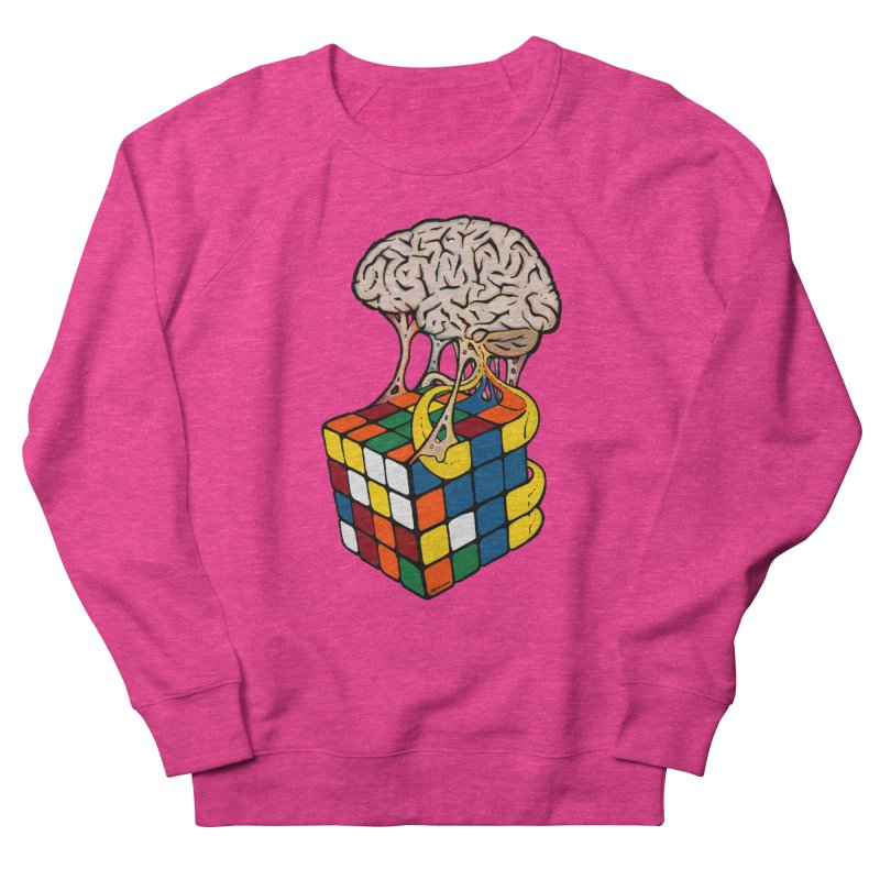 Cube Brain Men's French Terry Sweatshirt by Kelsorian T-shirt Shop