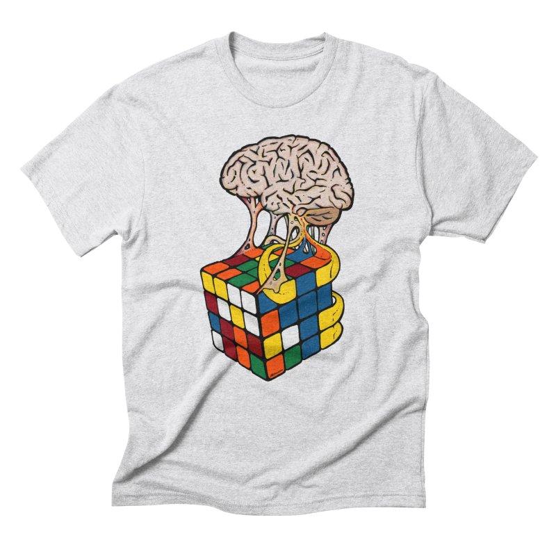 Cube Brain Men's Triblend T-Shirt by Kelsorian T-shirt Shop