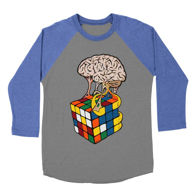 Cube Brain Women's Baseball Triblend T-Shirt by Kelsorian T-shirt Shop