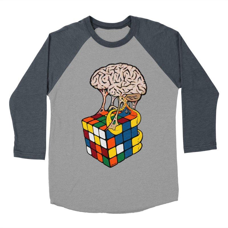 Cube Brain Women's Baseball Triblend Longsleeve T-Shirt by Kelsorian T-shirt Shop