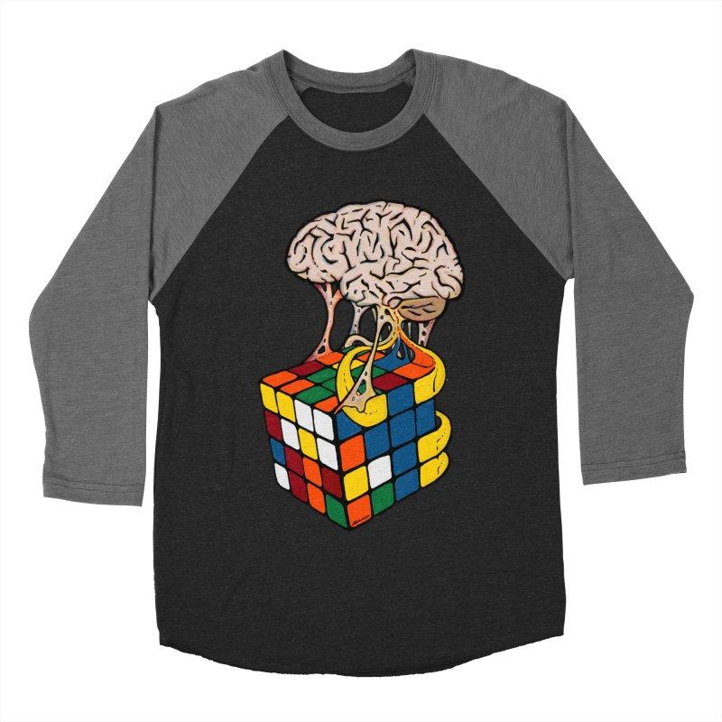 Cube Brain Men's Baseball Triblend T-Shirt by Kelsorian T-shirt Shop