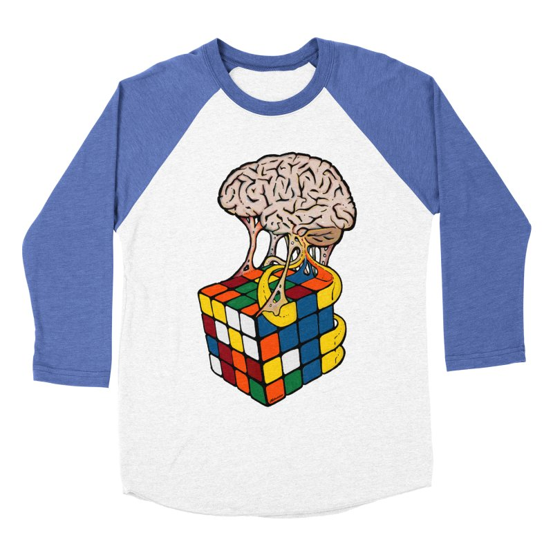 Cube Brain Men's Baseball Triblend T-Shirt by Kelsorian T-shirt Shop