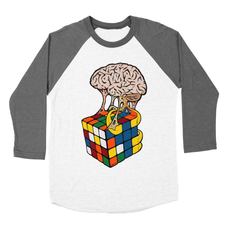 Cube Brain Men's Baseball Triblend Longsleeve T-Shirt by Kelsorian T-shirt Shop