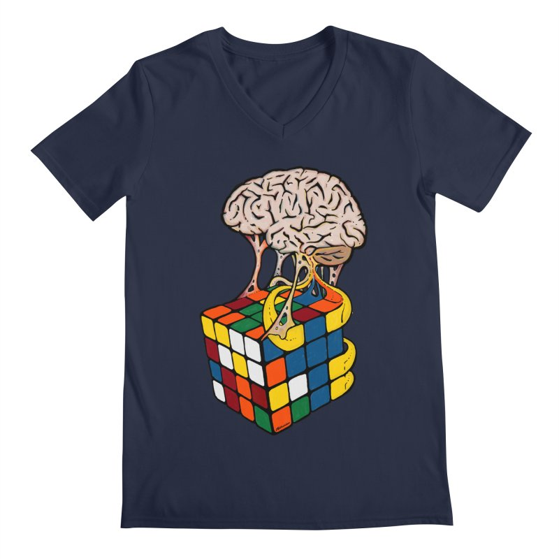 Cube Brain Men's V-Neck by Kelsorian T-shirt Shop