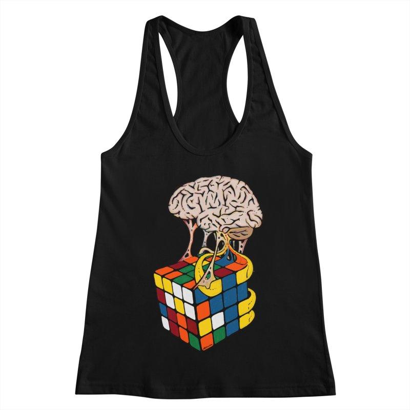 Cube Brain Women's Racerback Tank by Kelsorian T-shirt Shop