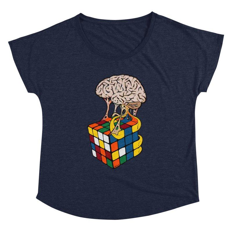 Cube Brain Women's Dolman Scoop Neck by Kelsorian T-shirt Shop