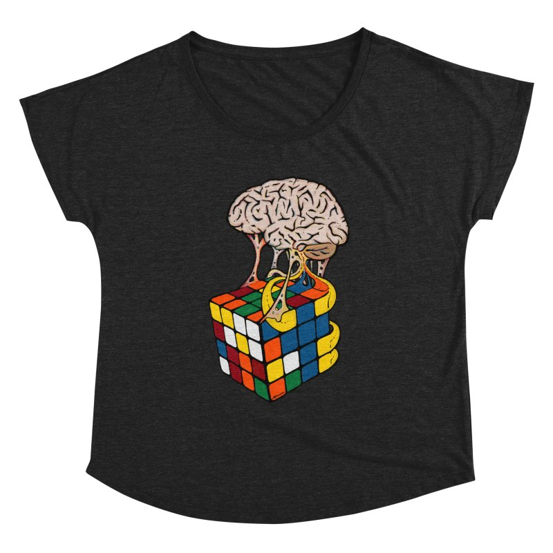 Cube Brain Women's  by Kelsorian T-shirt Shop
