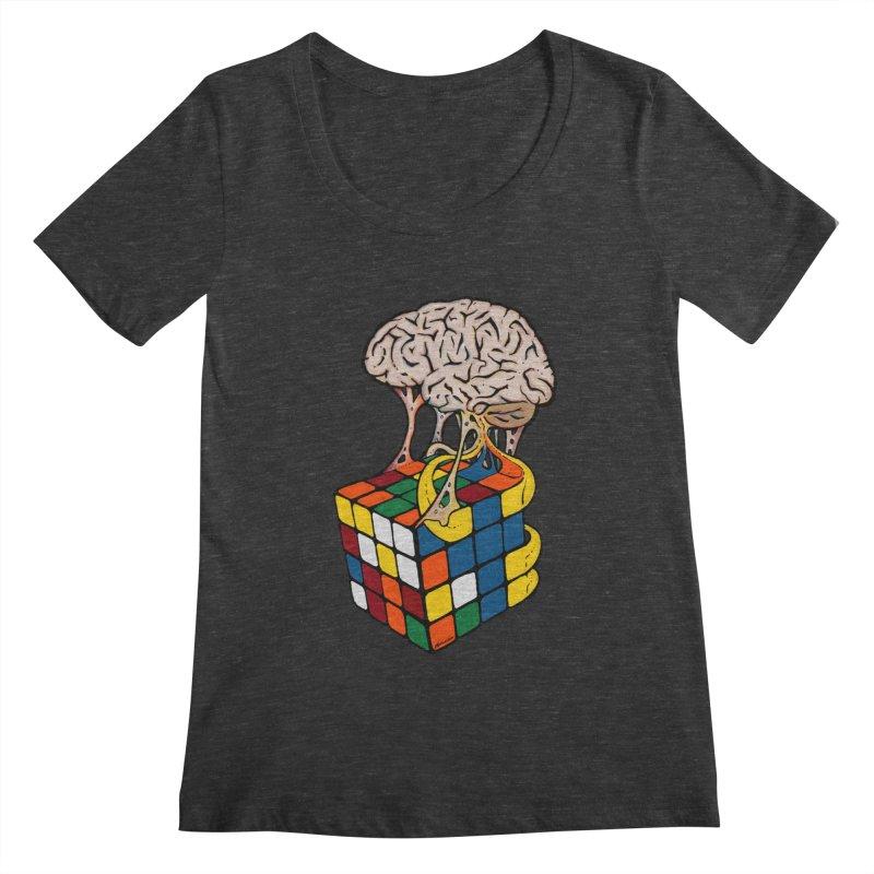 Cube Brain Women's Scoopneck by Kelsorian T-shirt Shop