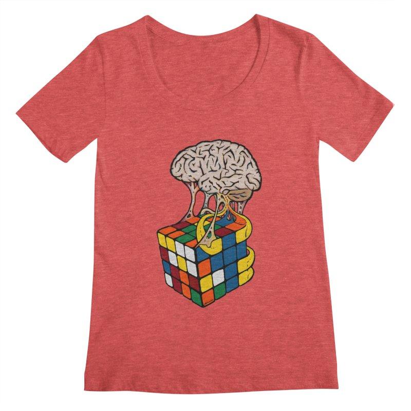 Cube Brain Women's  by Kelsorian T-shirt Shop