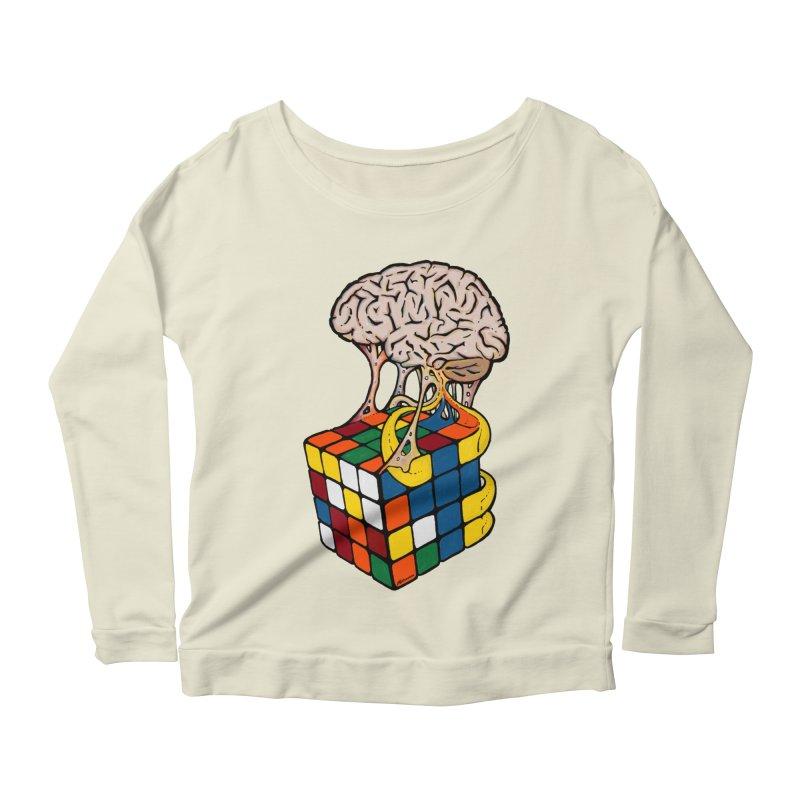 Cube Brain Women's Longsleeve Scoopneck  by Kelsorian T-shirt Shop