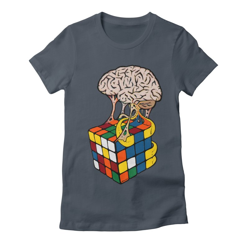 Cube Brain Women's Fitted T-Shirt by Kelsorian T-shirt Shop