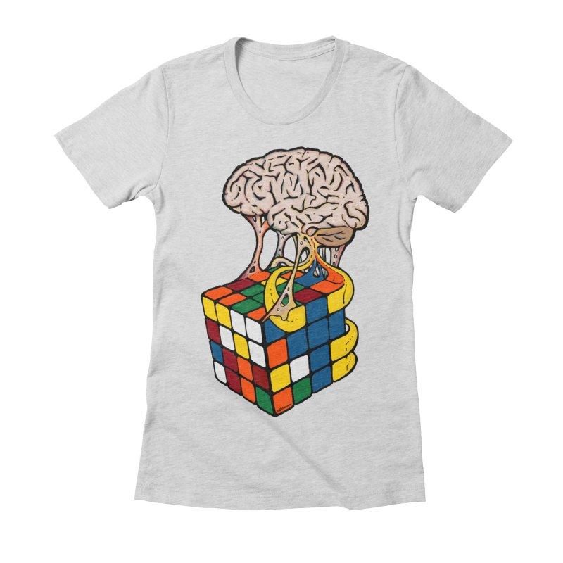 Cube Brain Women's Fitted T-Shirt by Kelsorian T-shirt Shop