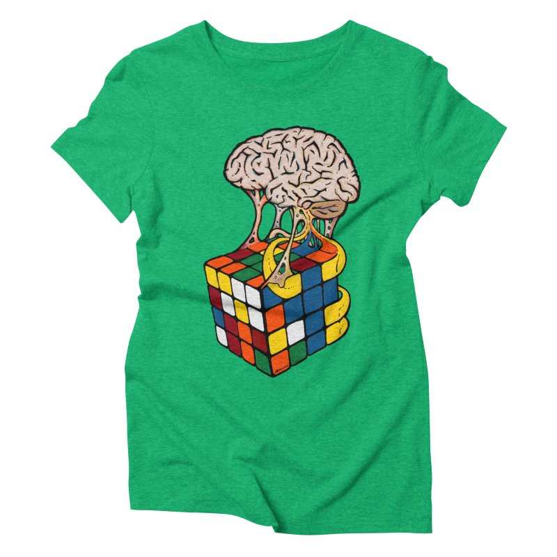 Cube Brain Women's Triblend T-Shirt by Kelsorian T-shirt Shop