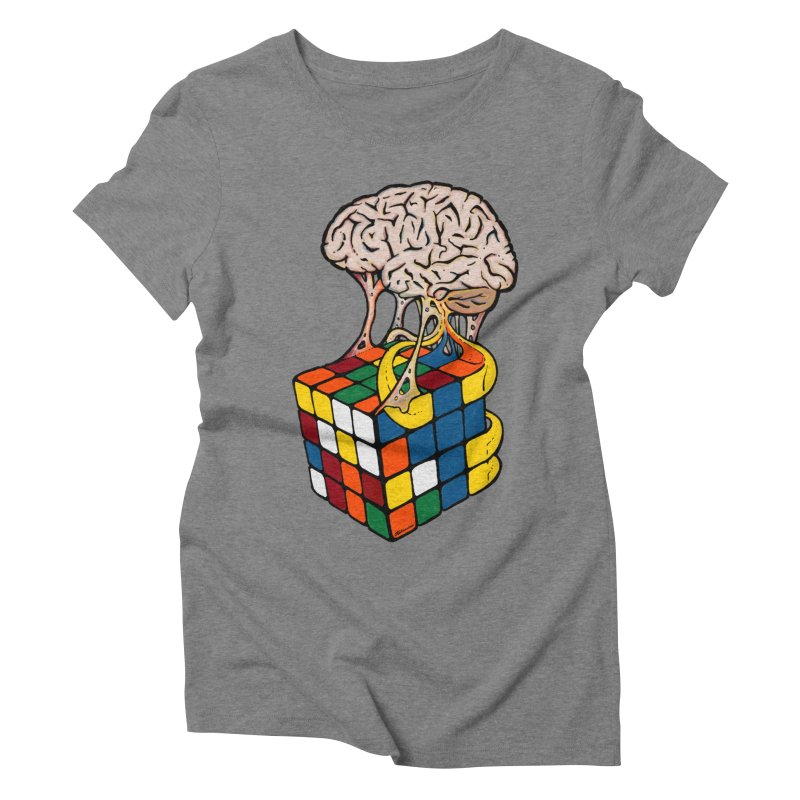 Cube Brain Women's Triblend T-Shirt by Kelsorian T-shirt Shop