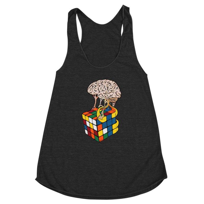 Cube Brain Women's Racerback Triblend Tank by Kelsorian T-shirt Shop