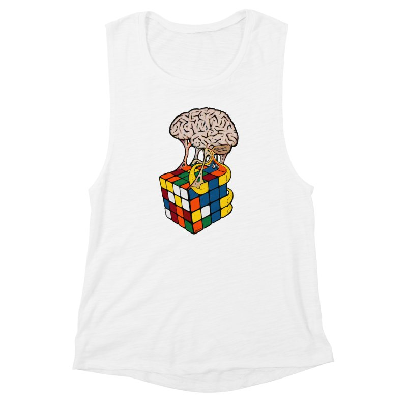Cube Brain Women's Muscle Tank by Kelsorian T-shirt Shop