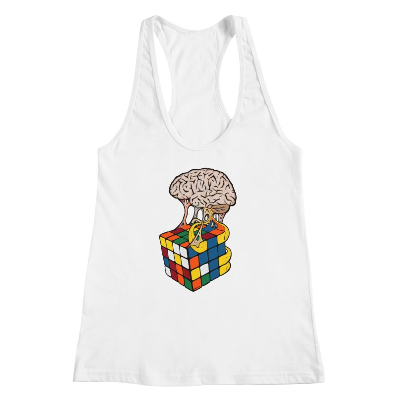 Cube Brain Women's Racerback Tank by Kelsorian T-shirt Shop