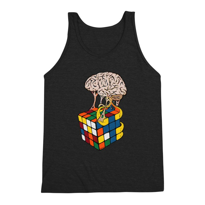 Cube Brain Men's Triblend Tank by Kelsorian T-shirt Shop