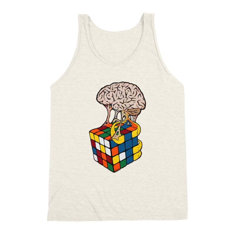 Cube Brain Men's Triblend Tank by Kelsorian T-shirt Shop
