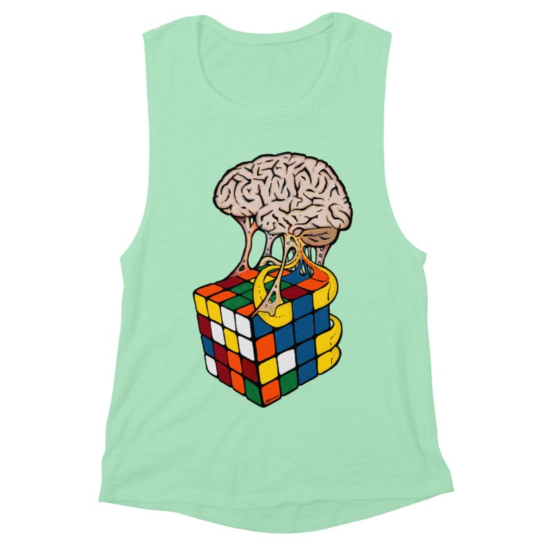 Cube Brain Women's Muscle Tank by Kelsorian T-shirt Shop